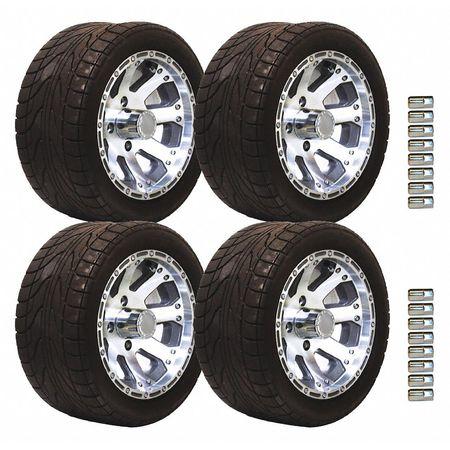 Cushman Backlash Diamond Tire and Wheel Package