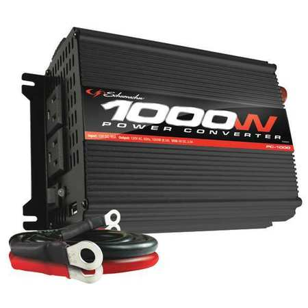 Continuous Power Inverter 1000W by USA Schumacher Electrical Power Inverters