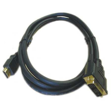 DVI Male to HDMI Male Black 2 M Long by USA Test Products Audio Video Cables