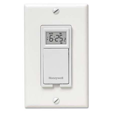 Light Switch 7 Day Progammable Model RPLS730B1000/U by USA Honeywell Electrical Wall Switches