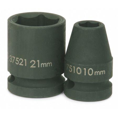 """Williams Standard Impact Socket 1/2"""" D 22mm 6Pt Min. Qty 10"""