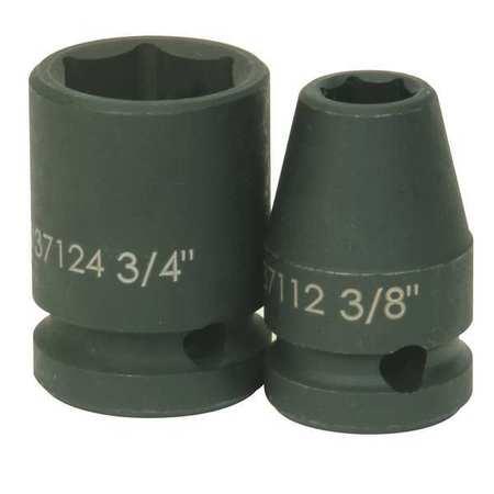 """Williams Standard Impact Socket 1/2""""D 6Pt 1"""" Min. Qty 10"""