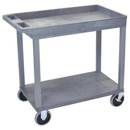"Luxor Cart 1 Tub 1 Flat Shelf 18""x32 Type EC12HD-G"