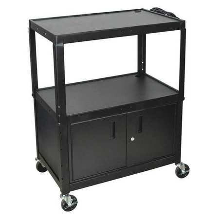 Luxor Cart Adj Height Extra Wide w/Cabinet