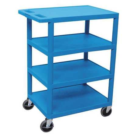 Luxor Utility Cart Four Flat Shelf Type BC45-BU
