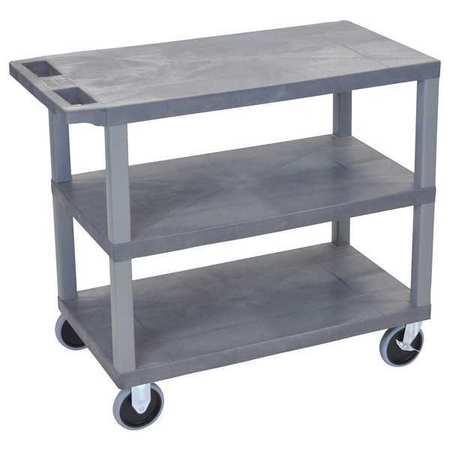 """Luxor Cart (3) Flat Shelves 18""""x32 Type EC222HD-G"""