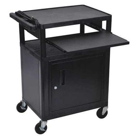 Luxor Cart (3) Shelf w/ Cabinet Pullout Shelf