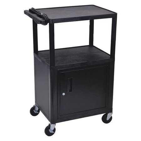 "Luxor Cart (3) Shelf w/Cabinet 41""H"