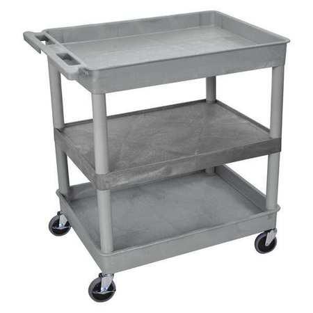 Luxor Tub Cart (3) Shelves L Type TC121-G