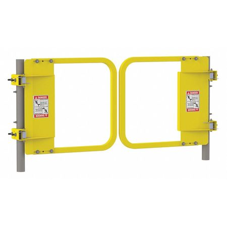 """PS Safety Gate Dual 22 to 28.5"""" Yellow"""