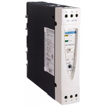 DC Power Supply 24VDC 3A 50/60Hz Model ABL8REM24030 by USA Schneider Electrical AC DC Power Supplies