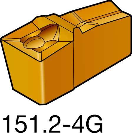 40 Insert Seat Size Sandvik Coromant Q-Cut 151.2 Carbide Parting Insert 1 Cutting Edge 0.0118 Corner Radius H13A Grade L151.2-400 05-4E Pack of 10 4E Chipbreaker Uncoated