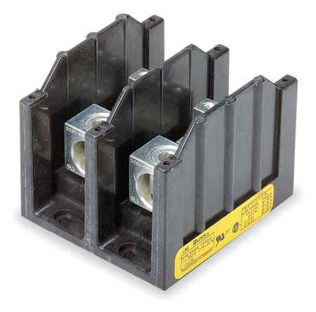 Pwr Dist Block 310A 2P 6P Secondary 600V by USA Bussmann Electrical Wire Power Distribution Blocks