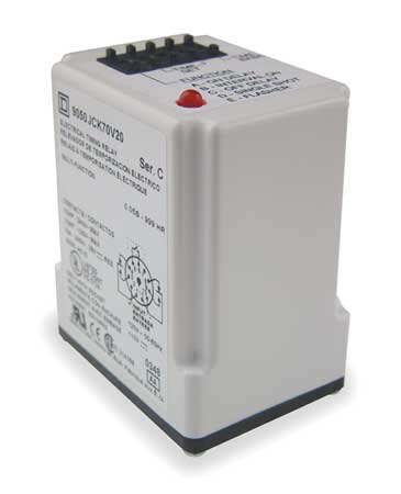 Time Delay Relay 240VAC 10A DPDT Model 9050JCK70V24 by USA Square D Electrical Time Delay Relays