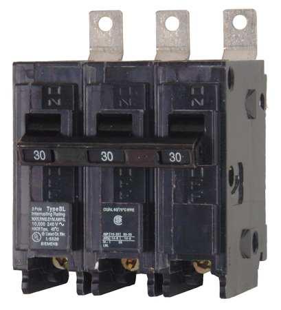 3P Standard Bolt On Circuit Breaker 30A 240VAC Model B330HH by USA Siemens Circuit Breakers