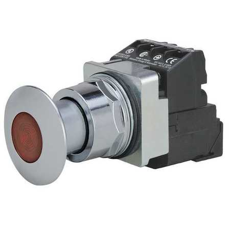 Illuminated Push Button 30mm 1NO/1NC Red Model 52PP2D2AB by USA Siemens Electrical Pushbutton Complete Units