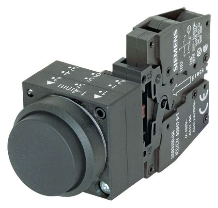 Non Illuminated Push Button 22mm Plastic Model 3SB32010BA11 by USA Siemens Electrical Pushbutton Complete Units