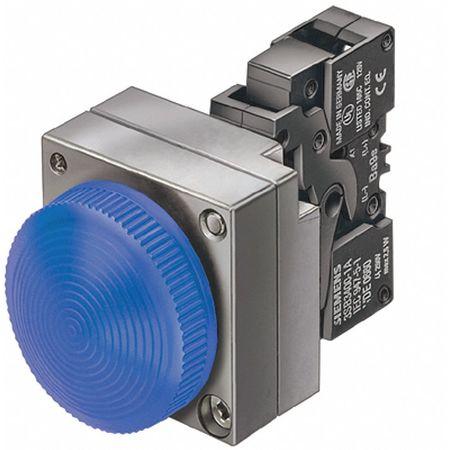 Pilot Lt Complete LED 120V 22mm Metal BL by USA Siemens Electrical Control Pilot Lights