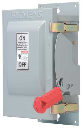30 Amp 600VAC Single Throw Safety Switch 3P Model HF361J by USA Siemens Electrical Safety & Disconnect Switches