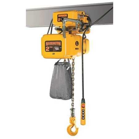 Harrington Electric Chain Hoist w/Trolley 6000 lb.