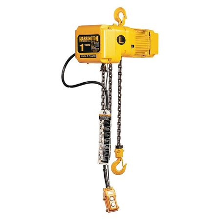 Harrington Electric Chain Hoist 2000 lb. 10 ft. Type SNER010L-10