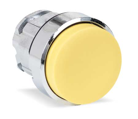 Pushbutton 22mm YLW Maintained Extended by USA Schneider Electrical Non Illuminated Pushbuttons