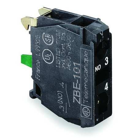 Contact Block 1NO Slow Break 22mm Model ZBE101 by USA Schneider Electrical Pushbutton Accessories