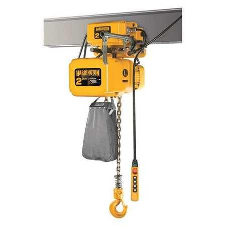 Harrington Electric Chain Hoist w/Trolley 1000 lb. Type SNERM005S-L-20