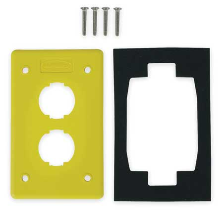 Wall Plate 2port 1gang by USA Hubbell Premise Voice & Data Outlets Boxes Faceplates