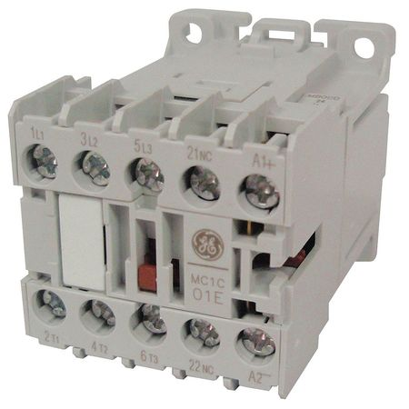 IEC Magnetic Contactor 120VAC 6A 1NC 3P by USA GE Electrical Motor Magnetic Contactors