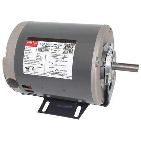 Motor 1/2 1/4 HP 1725/1140 RPM 115 V by USA Dayton HVAC Belt Drive Motors