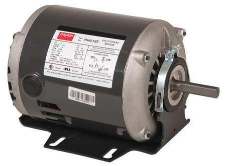 GP Mtr Split Ph ODP 1/2 HP 3450 rpm 48 by USA Dayton General Purpose Split Phase AC Motors