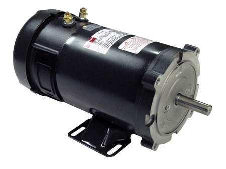 DC Motor PM TEFC 3/4 HP 1800 rpm 12VDC by USA Dayton DC Permanent Magnet Motors