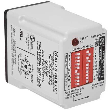 Time Delay Relay 24VAC/DC 10A SPDT by USA Macromatic Electrical Time Delay Relays