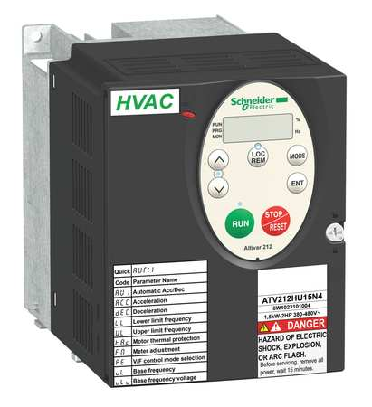 Variable Frequency Drive 2 HP 400 480V Model ATV212HU15N4 by USA Schneider Variable Frequency Open Enclosure Drives