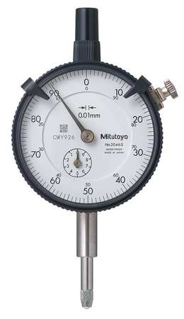 MITUTOYO 513-404-10E Dial Test Indicator,Hori,0 to 0.8mm