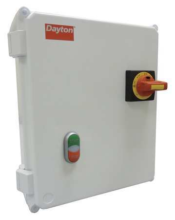 IEC Combo Str 6.3 to 11A 120 Coil 4X Enc by USA Dayton Electrical Motor NEMA Combination Starters