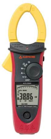 Clamp On Meter 1000kW 1000A by USA Amprobe Electrical Clamp Meters