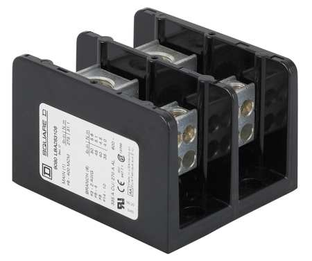 Min Pwr Dist Block 115A 2P 10 2AWG 600V by USA Square D Electrical Wire Power Distribution Blocks
