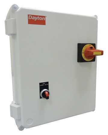 IEC Combo Str 10 to 16A 120V Coil 4X Enc Model 6PXD4 by USA Dayton Electrical Motor NEMA Combination Starters