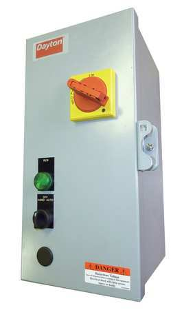 IEC Combo Str 11 to 16 A 120V Coil 1 Enc by USA Dayton Electrical Motor NEMA Combination Starters