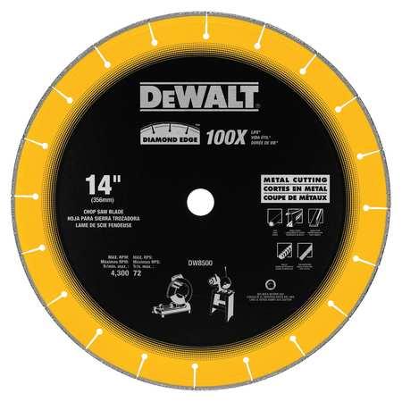 DeWalt DW8500 14 by 1 Diamond Edge Chop Saw Blade