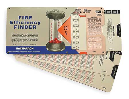 Fire Efficency Finder -  BACHARACH, 10-5064