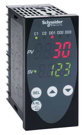 Temp Ctrl 1 EMR 24 VAC/VDC 1/8DIN Mod by USA Schneider Industrial Automation Temperature Controllers