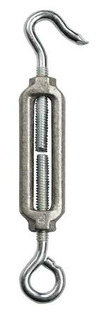 Chicago Hardware Turnbuckle Hook & Eye Aluminum 1/4-20 In