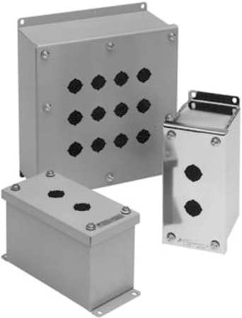 Pushbutton Enclosure 22mm 2 Holes Steel by USA GE Electrical Pushbutton Enclosures & Accessories