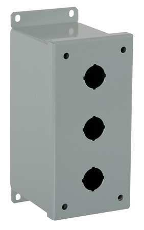 Pushbutton Enclosure 22mm 3 Holes Steel by USA GE Electrical Pushbutton Enclosures & Accessories