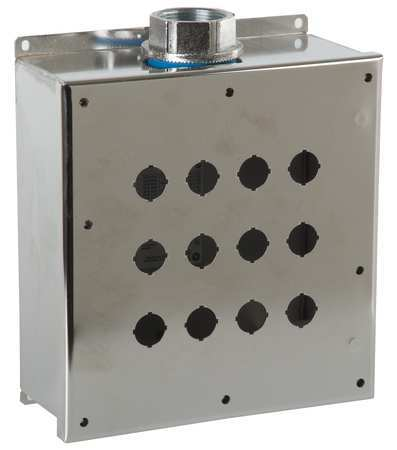 Pushbutton Enclosure 22mm 12 Hole 304 SS by USA GE Electrical Pushbutton Enclosures & Accessories