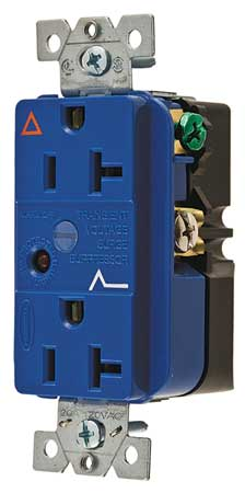20A Duplex Decorator Receptacle 125VAC 5 20R BL Model IG5362SA by USA Hubbell Kellems Electrical Straight Blade Receptacles