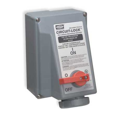 Receptacle Interlock Model HBL430MI9W by USA Hubbell Kellems Electrical Pin & Sleeve Receptacles